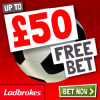 Ladbrokes – £50 Free Bet Offer