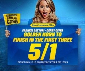 Betting Offers – Golden Horn 5/1 to Place in the Derby