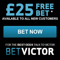 BetVictor – £25 Free Bet Offer