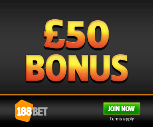 188Bet – £50 Betting Offer