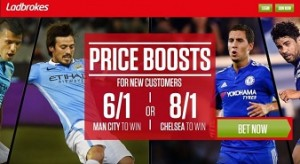 Betting Offers – Man City v Chelsea Price Boosts at Ladbrokes