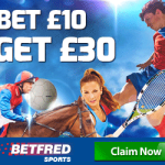 Betfred – Bet £10 Get £30 Free