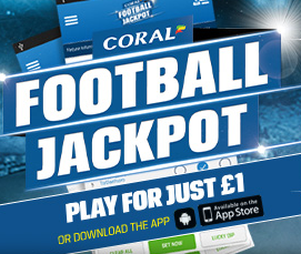 Hit the £1m Football Jackpot Betting Offer with Coral
