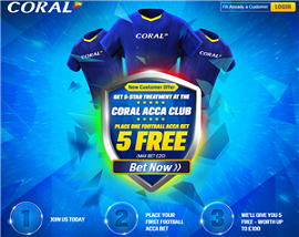 Five Free Football Acca Bets at Coral!