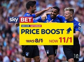 Sky Bet Price Boost on Villa, Swansea and Bournemouth 11/1