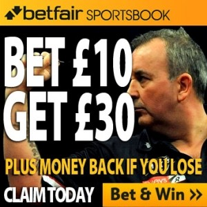 Betfair match insurance betting offer for Grand Slam of Darts