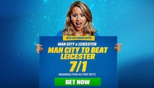 Coral 7/1 price boost on Man City to beat Leicester