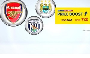 Sky Bet 7/2 price boost on FA Cup wins for Man City, West Brom and Arsenal