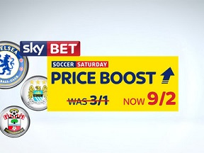 Sky Bet boost Chelsea, Man City and Southampton all to win