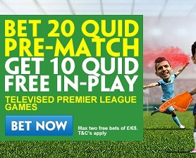 Free In Play bets at Paddy Power for Swansea v Liverpool