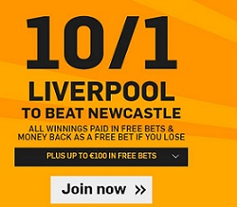 Betfair Liverpool v Newcastle Welcome Bonus Offer