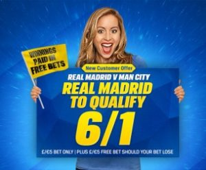 Real Madrid 6/1 To Qualify for UEFA Champions League Final