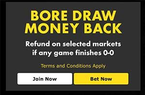 Bet365 Bore Draw Insurance of Brighton v Sheffield Wednesday play off