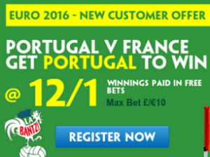 Paddy Power boost Portugal to 12/1 to beat France