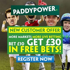Paddy Power Free Bets Offer for Men's US Open 2016