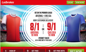 Ladbrokes enhance outright odds for Arsenal v Chelsea